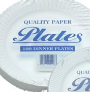 Paper plates (23cm) Case of 10 x 100